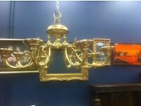 Large brass Victorian style Chandelier