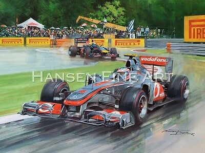 Jenson Button McLaren Formula 1 Grand Prix Motor Car Racing Print Michael Turner