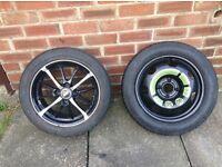 Corsa alloy wheel and space saver
