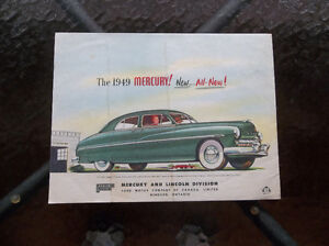 1949 Mercury dealer showroom folder London Ontario image 2