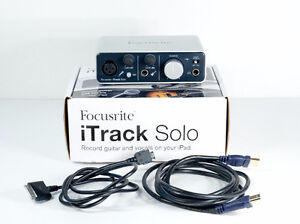 Focusrite iTrack Solo  works with any Ipad iphone or Comptr Mint