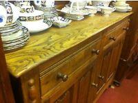 Vintage Oak Dresser : Free Glasgow Delivery