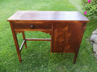 Antique solid wood cabinet or could use for desk