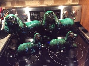 Blue mountain pottery set of 4 cocker spaniels