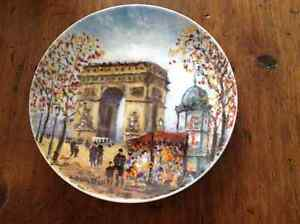 "SOLD ** LIMOGES FRANCE DALI ""L'ARC DE TRIOMPHE"" PORCELAIN PLATE"