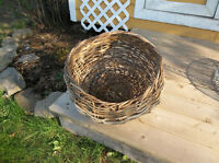 Basket would look nice in your garden with flowers