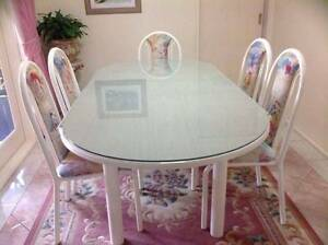 Dining Table and Six Chairs Cecil Hills Liverpool Area Preview