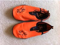 Swim beach shoes orange size 10.5