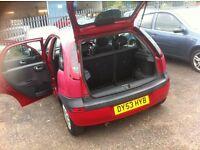 Vauxhall corsa 1.2 on 53 reg long mot