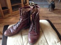 Ladies size 7 1/2 burgundy paddock boots