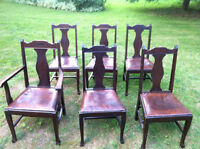 Very nice antique table and chairs for sale