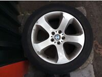 Genuine BMW X5 Alloys with tyres