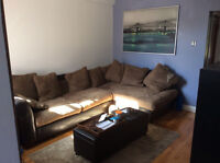 Sunny 3 1/2 to sublet fully furnished 955$