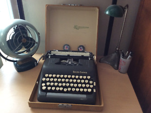 Vintage Smith Corona Silent Super manual typewriter + more