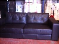 REIDS LEATHER 3 SEATER