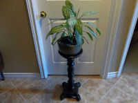Wood plant stand could use for big candle