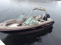 "17' 6"" PRINCECRAFT ALUMINUM BOAT MERC 115 hp MOTOR AND TRAILER"
