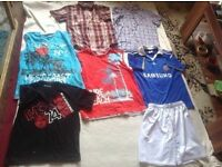 Bundle of clothes boys tops & shirts 7 items age 12/13yrs used £4