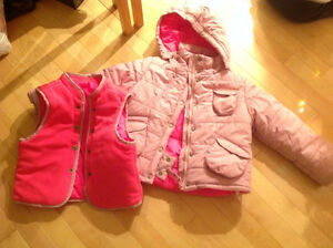 Mexx winter jacket with extra fleece/bomber vest