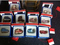Ornamental mini shoes brand new with display case