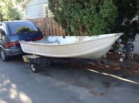 Smoker Craft 12ft boat and trailer