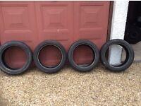 225 45 17 Michelin pilot tyres x4