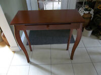 Wood table with small drawer