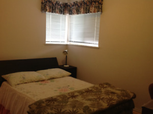 Clean quiet upstairs bedroom at North Vancouver close shoppings