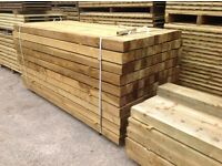 """POSTS * PRESSURE TREATED WOODEN/ TIMBER * NEW * 4""""X 4""""X 2.4M *"""