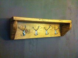 Handmade Reclaimed Wood Coat Hanger