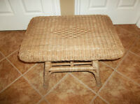 Real wicker coffee table