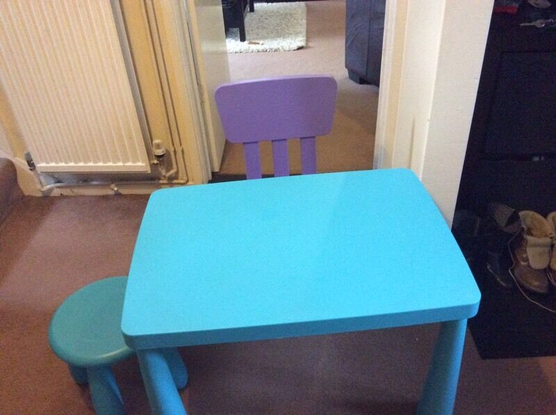 ikea mammut table chair and stool in reading berkshire gumtree. Black Bedroom Furniture Sets. Home Design Ideas
