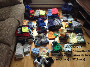 Gros lot de vêtements bébé garçon
