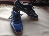 Umbro football boots blue size: 9.5 used £3