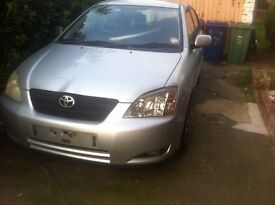 Toyota Corolla 1.4 Ts Petrol 2003 silver Breaking call for info and prices