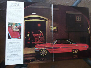 1964 Ford Galaxie 500 & XL dealer showroom catalog London Ontario image 2
