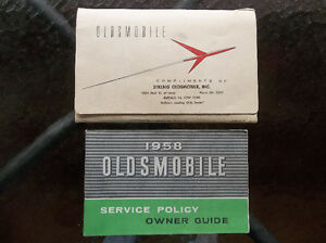 1958 Oldsmobile glove box manual & purchase documents London Ontario image 1