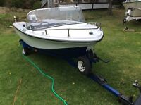 15ft fiberglass boat with trailer