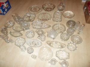 Un lot #2 de vaisselle en verre transparent