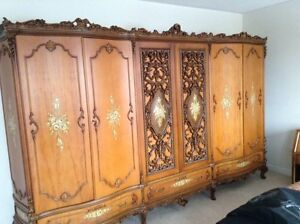 Antique carved armoir