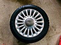 Fiat 500 original winter tire on rim