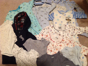 Baby's boy clothes from 0 to 18 months