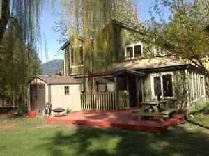 Beautiful, well loved family home in the Slocan Valley.