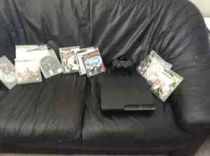 ps3 slim, One controller, 10 games