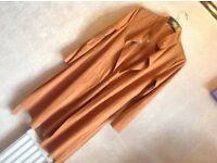 Brand new Ladies open long cardigan light velvet size: 6 new £4