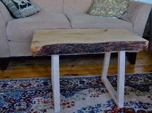 Live edge | Bark on | Coffee table | From Nova Scotian wood