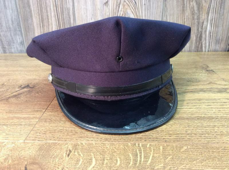 Vintage Fire Dept Dress Hat Visor Cap United Hatters, Millinery Works 1950's B5