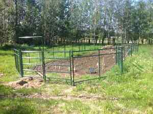 "Panels,gates, round pen, corral, shelters, 84"" snow bucket..."