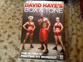 2 DAVID HAYES BOX & TONE PLUS ABS, TOTAL WORKOUT, SMOKE FREE HOME