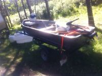 12ft misty river with new 9.8 and almost new shorlander trailer